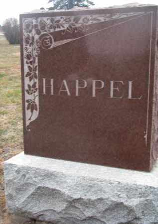 HAPPEL, PLOT STONE - Stanton County, Nebraska   PLOT STONE HAPPEL - Nebraska Gravestone Photos