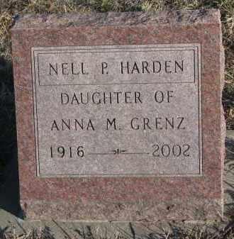 HARDEN, NELL P. - Stanton County, Nebraska   NELL P. HARDEN - Nebraska Gravestone Photos