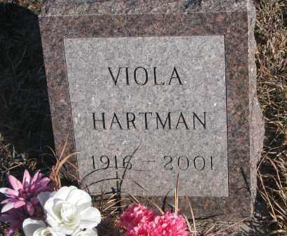 HARTMAN, VIOLA - Stanton County, Nebraska | VIOLA HARTMAN - Nebraska Gravestone Photos