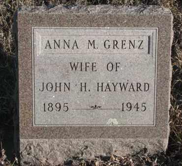 GRENZ HAYWARD, ANNA M. - Stanton County, Nebraska | ANNA M. GRENZ HAYWARD - Nebraska Gravestone Photos