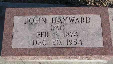 HAYWARD, JOHN - Stanton County, Nebraska | JOHN HAYWARD - Nebraska Gravestone Photos