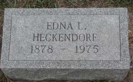 HECKENDORF, EDNA L. - Stanton County, Nebraska | EDNA L. HECKENDORF - Nebraska Gravestone Photos