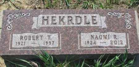 HEKRDLE, ROBERT T. - Stanton County, Nebraska   ROBERT T. HEKRDLE - Nebraska Gravestone Photos