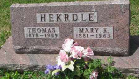 HEKRDLE, MARY K. - Stanton County, Nebraska | MARY K. HEKRDLE - Nebraska Gravestone Photos