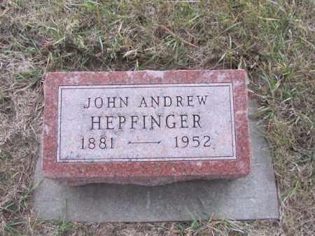 HEPFINGER, JOHN ANDREW - Stanton County, Nebraska | JOHN ANDREW HEPFINGER - Nebraska Gravestone Photos