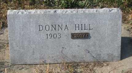 HILL, DONNA - Stanton County, Nebraska   DONNA HILL - Nebraska Gravestone Photos