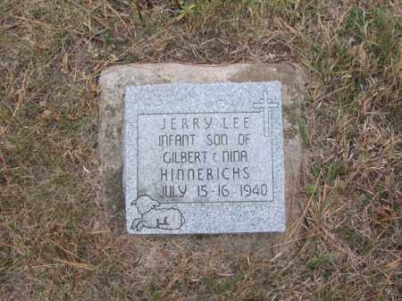 HINNERICHS, JERRY LEE - Stanton County, Nebraska | JERRY LEE HINNERICHS - Nebraska Gravestone Photos