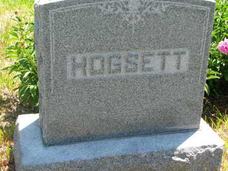 HOGSETT, FAMILY STONE - Stanton County, Nebraska | FAMILY STONE HOGSETT - Nebraska Gravestone Photos