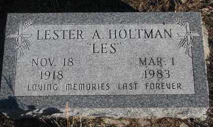 HOLTMAN, LESTER A. - Stanton County, Nebraska | LESTER A. HOLTMAN - Nebraska Gravestone Photos