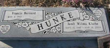 HUNKE, FRANCIS BERNARD - Stanton County, Nebraska | FRANCIS BERNARD HUNKE - Nebraska Gravestone Photos