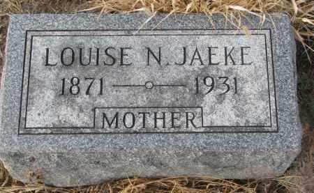 JAEKE, LOUISE N. - Stanton County, Nebraska | LOUISE N. JAEKE - Nebraska Gravestone Photos