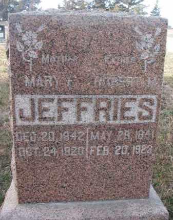 JEFFRIES, ROBERT M. - Stanton County, Nebraska | ROBERT M. JEFFRIES - Nebraska Gravestone Photos