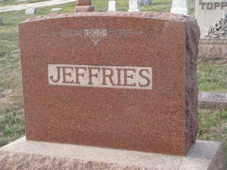 JEFFRIES, PLOT STONE - Stanton County, Nebraska | PLOT STONE JEFFRIES - Nebraska Gravestone Photos
