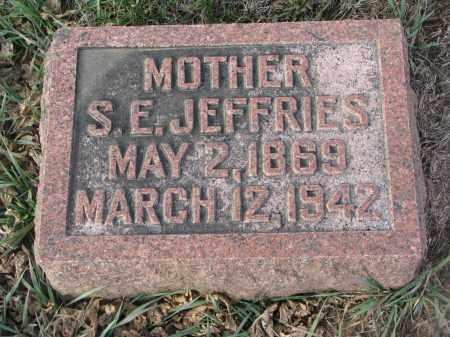 JEFFRIES, S.E. - Stanton County, Nebraska | S.E. JEFFRIES - Nebraska Gravestone Photos