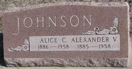 JOHNSON, ALEXANDER V. - Stanton County, Nebraska | ALEXANDER V. JOHNSON - Nebraska Gravestone Photos