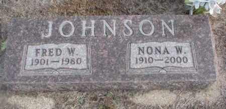 JOHNSON, NONA W. - Stanton County, Nebraska | NONA W. JOHNSON - Nebraska Gravestone Photos