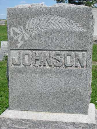 JOHNSON, FAMILY STONE - Stanton County, Nebraska   FAMILY STONE JOHNSON - Nebraska Gravestone Photos