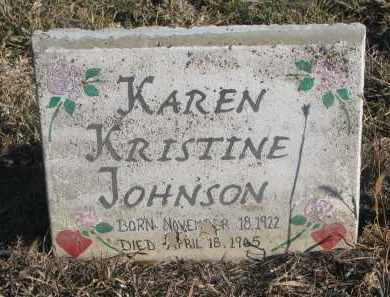 JOHNSON, KAREN KRISTINE - Stanton County, Nebraska | KAREN KRISTINE JOHNSON - Nebraska Gravestone Photos
