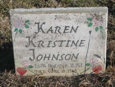 JOHNSON, KAREN KRISTINE - Stanton County, Nebraska   KAREN KRISTINE JOHNSON - Nebraska Gravestone Photos