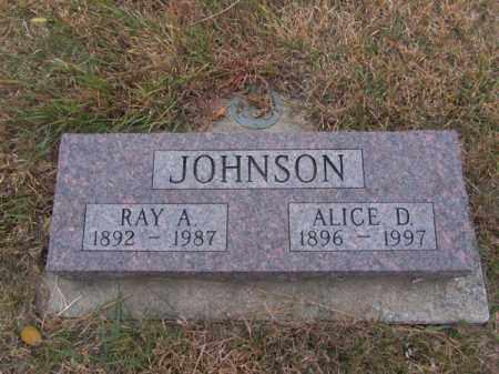 JOHNSON, ALICE D - Stanton County, Nebraska   ALICE D JOHNSON - Nebraska Gravestone Photos