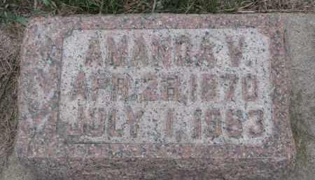 JONES, AMANDA V. - Stanton County, Nebraska | AMANDA V. JONES - Nebraska Gravestone Photos