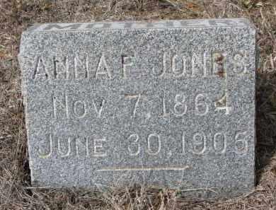 JONES, ANNA F. - Stanton County, Nebraska | ANNA F. JONES - Nebraska Gravestone Photos