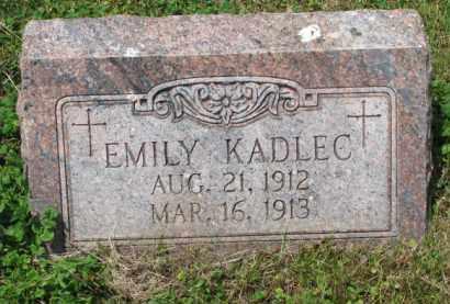 KADLEC, EMILY - Stanton County, Nebraska   EMILY KADLEC - Nebraska Gravestone Photos