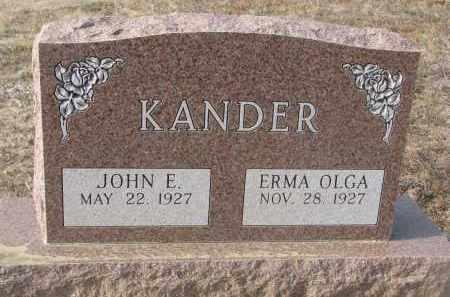 KANDER, JOHN E. - Stanton County, Nebraska | JOHN E. KANDER - Nebraska Gravestone Photos