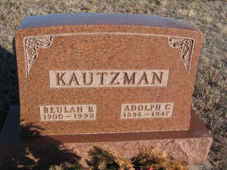 KAUTZMAN, BEULAH B. - Stanton County, Nebraska | BEULAH B. KAUTZMAN - Nebraska Gravestone Photos