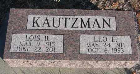 KAUTZMAN, LOIS B. - Stanton County, Nebraska | LOIS B. KAUTZMAN - Nebraska Gravestone Photos