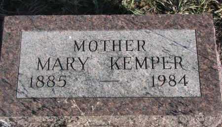 KEMPER, MARY - Stanton County, Nebraska   MARY KEMPER - Nebraska Gravestone Photos