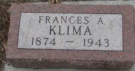 KLIMA, FRANCES A. - Stanton County, Nebraska | FRANCES A. KLIMA - Nebraska Gravestone Photos