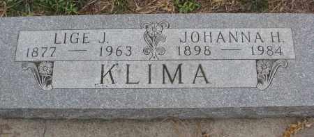 KLIMA, LIGE J. - Stanton County, Nebraska | LIGE J. KLIMA - Nebraska Gravestone Photos
