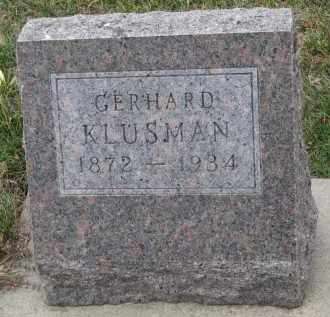 KLUSMAN, GERHARD - Stanton County, Nebraska | GERHARD KLUSMAN - Nebraska Gravestone Photos