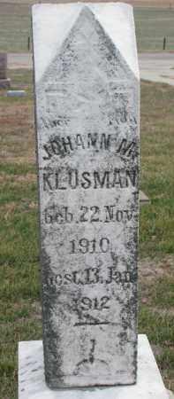 KLUSMAN, JOHANN M. - Stanton County, Nebraska   JOHANN M. KLUSMAN - Nebraska Gravestone Photos