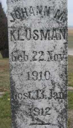 KLUSMAN, JOHANN M. (CLOSEUP) - Stanton County, Nebraska   JOHANN M. (CLOSEUP) KLUSMAN - Nebraska Gravestone Photos