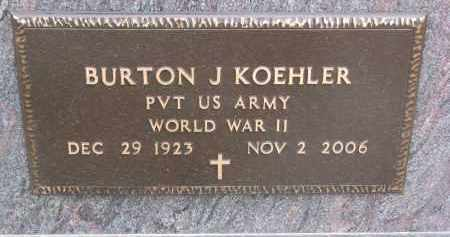 KOEHLER, BURTON J. (WW II) - Stanton County, Nebraska | BURTON J. (WW II) KOEHLER - Nebraska Gravestone Photos