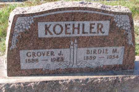 KOEHLER, BIRDIE M. - Stanton County, Nebraska | BIRDIE M. KOEHLER - Nebraska Gravestone Photos