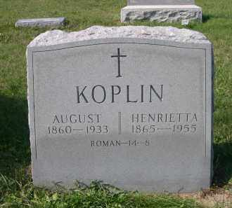 KOPLIN, HENRIETA - Stanton County, Nebraska | HENRIETA KOPLIN - Nebraska Gravestone Photos