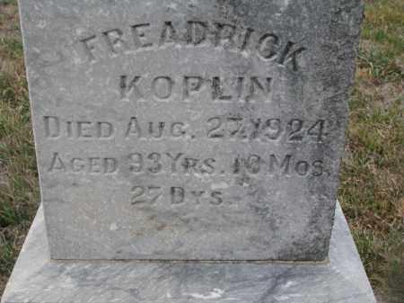 KOPLIN, FREADRICK (CLOSEUP) - Stanton County, Nebraska | FREADRICK (CLOSEUP) KOPLIN - Nebraska Gravestone Photos