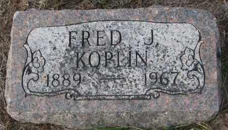 KOPLIN, FRED J. - Stanton County, Nebraska   FRED J. KOPLIN - Nebraska Gravestone Photos