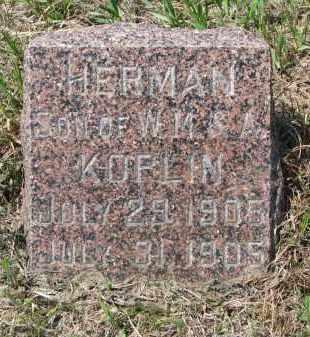 KOPLIN, HERMAN - Stanton County, Nebraska | HERMAN KOPLIN - Nebraska Gravestone Photos
