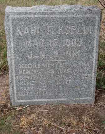 KOPLIN, KARL F. - Stanton County, Nebraska   KARL F. KOPLIN - Nebraska Gravestone Photos
