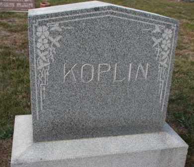 KOPLIN, PLOT STONE - Stanton County, Nebraska | PLOT STONE KOPLIN - Nebraska Gravestone Photos