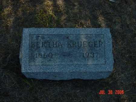 KRUEGER, BERTHA - Stanton County, Nebraska | BERTHA KRUEGER - Nebraska Gravestone Photos