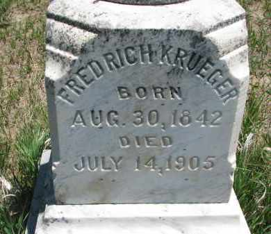 KRUEGER, FREDRICH (CLOSEUP) - Stanton County, Nebraska | FREDRICH (CLOSEUP) KRUEGER - Nebraska Gravestone Photos
