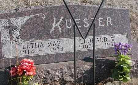 KUESTER, LETHA MAE - Stanton County, Nebraska | LETHA MAE KUESTER - Nebraska Gravestone Photos