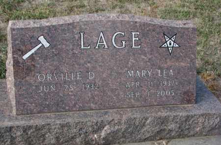 LAGE, ORVILLE D. - Stanton County, Nebraska | ORVILLE D. LAGE - Nebraska Gravestone Photos
