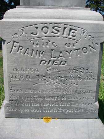LAYTON, JOSIE (CLOSEUP) - Stanton County, Nebraska | JOSIE (CLOSEUP) LAYTON - Nebraska Gravestone Photos