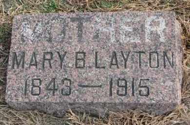 LAYTON, MARY B. - Stanton County, Nebraska | MARY B. LAYTON - Nebraska Gravestone Photos